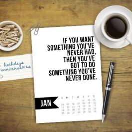 Free 5x7 Printable Calendar for January 2015 with inspirational quote! www.livelaughrowe.com