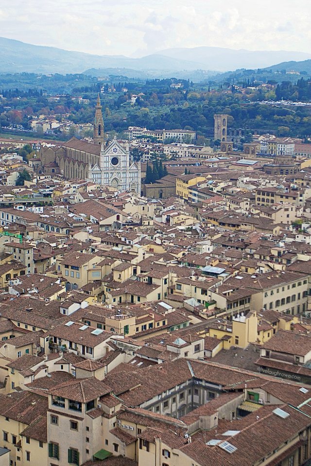 The beautiful view of Florence, Italy from the top of the Duomos Dome.  #florence #italy