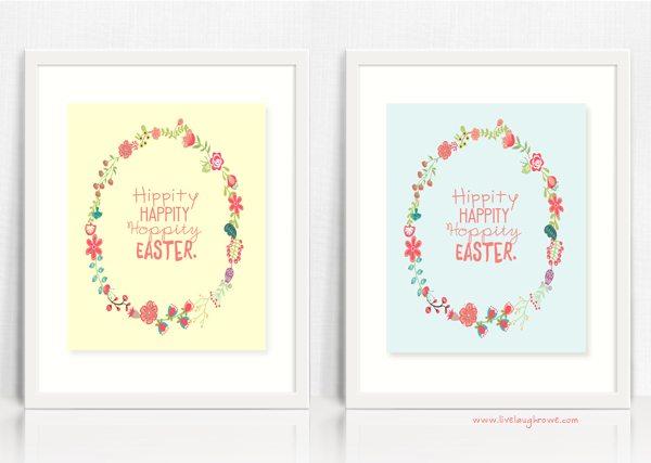 Hippity Happity Hoppity Easter! Printable