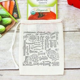 Great Spring Favor or Gardener Gift! Stamped Seed Packet Bags by The Casual Craftlete for www.livelaughrowe.com #craft