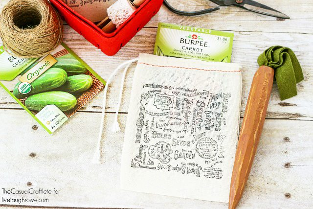 Stamped Seed Packet Bags by The Casual Craftlete for www.livelaughrowe.com #craft