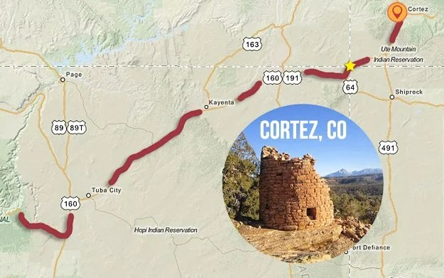 Last official stop on our Road Trip to the Mountain States - Cortez, CO. livelaughrow.com #gorving #ad