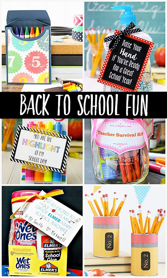 Back to School Fun. Gift and Craft Features