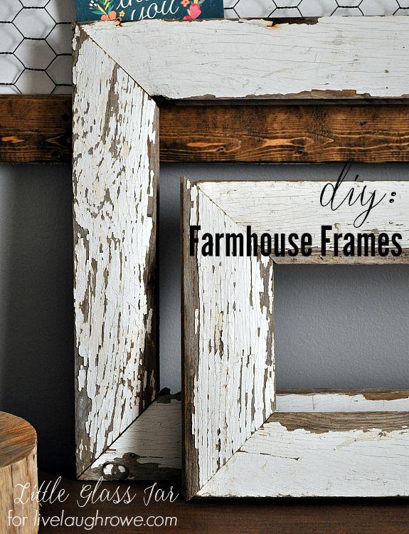 LOVE these! Super easy DIY Farmhouse Frames by Little Glass Jar.
