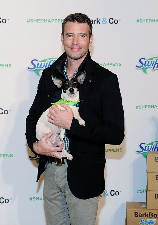 In this image distributed on Thursday, Nov. 12, 2015, Scott Foley delivers the first Swiffer Welcome Home Kit to a local Los Angeles animal shelter. Foley serves as Swiffer campaign ambassador to spread the word that cleaning concerns should never be an obstacle to bringing home your child's first pet. (Photo by Michael Simon/Invision for Swiffer/AP Images)