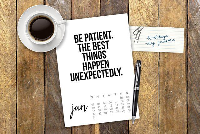 January 2016 Printable Calendar with inspirational quote! www.livelaughrowe.com