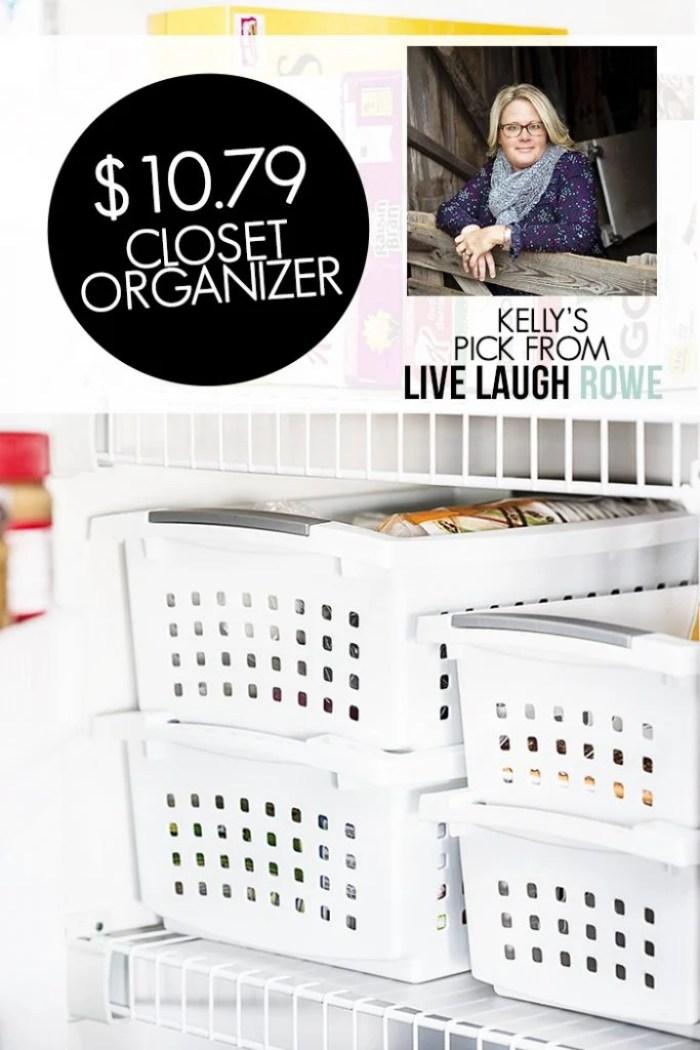 Stackable Crates. Closet Organization. LiveLaughRowe