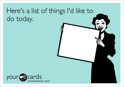 Things to Do E-card