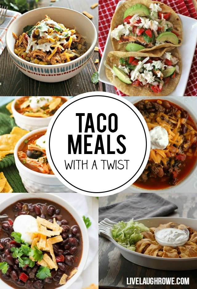 Who likes tacos? Who likes Mexican? Well, these Taco Meals with a twist are sure to fit the bill! livelaughrowe.com