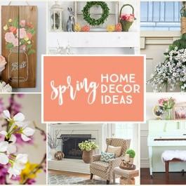 Beautiful Spring Home Decor to inspire you! livelaughrowe.com