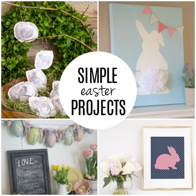 Simple Easter Projects to inspire your home decor! livelaughrowe.com