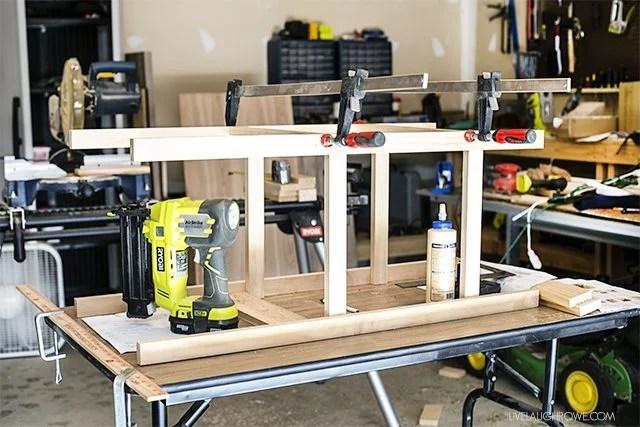 Building the DIY Drink Station. Full tutorial at livelaughrowe.com