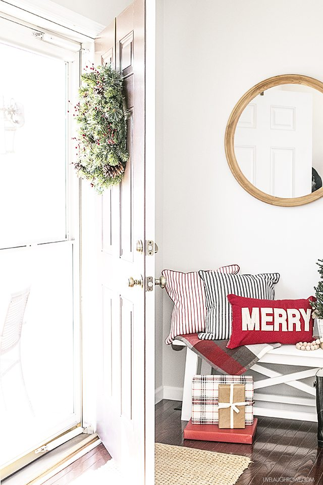 Welcome to our home! Check out my Farmhouse inspired holiday entry! livelaughrowe.com