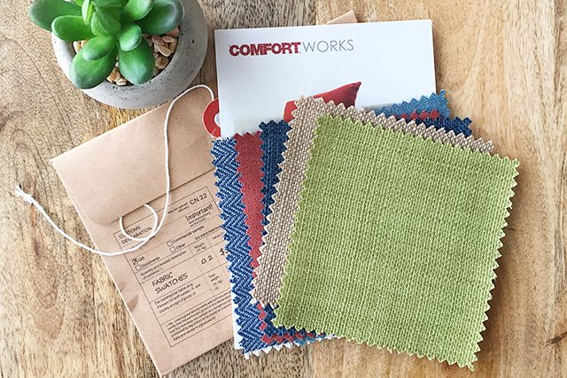 Custom slipcover fabrics to choose from when working with Comfort Works. livelaughrowe.com