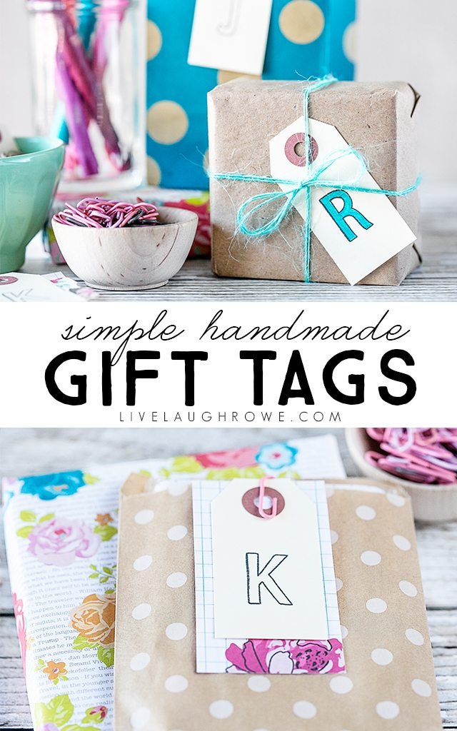 Simple Gift Tags that you can make in minutes -- add a personal touch to your gifts with handmade gift tags. livelaughrowe.com