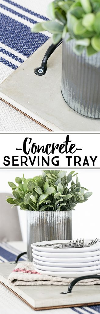 This Concrete DIY will have you serving up drinks, snacks and more on a cement serving tray! Industrial inspired, this tray would make a great decorative piece too. livelaughrowe.com