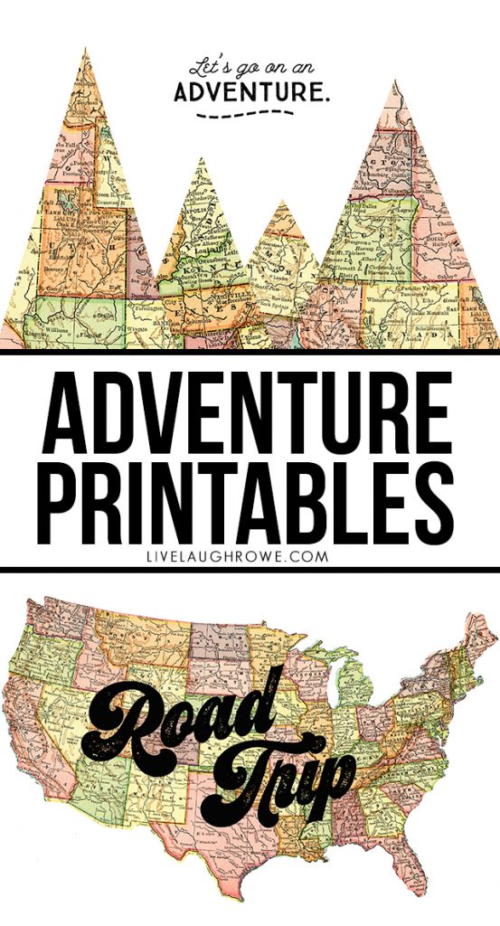 Adventure awaits -- take a road trip, explore new states! These adventure printables are a great reminder and make fantastic wall prints for the traveler. livelaughrowe.com