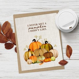 """Ahhh. I love fall and this free fall printable is beautiful! """"I never met a pumpkin I didn't like."""" Available at livelaughrowe.com"""
