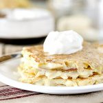 A family favorite that makes a regular appearance -- this Potato Pancake Recipe is simple and delicious! Recipe at livelaughrowe.com