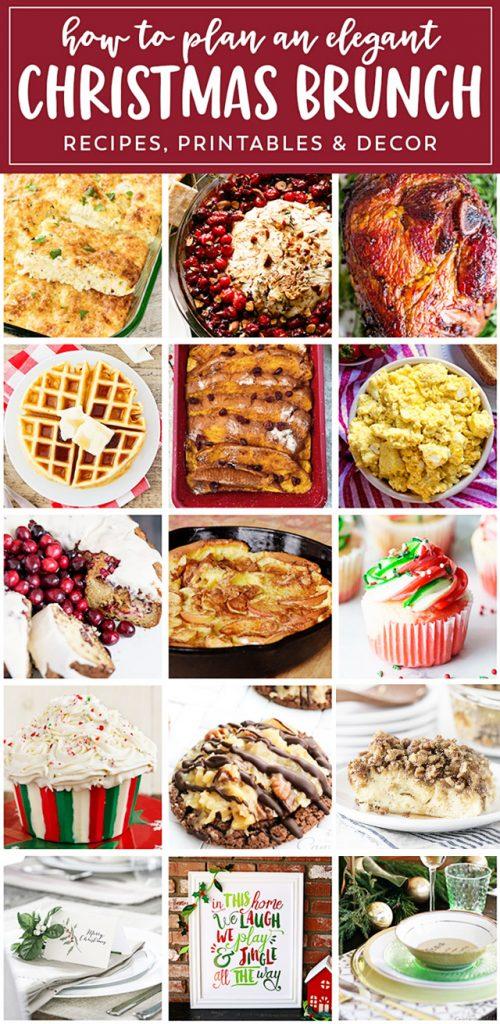 Christmas Brunch ideas from a fabulous food to entertaining! livelaughrowe.com