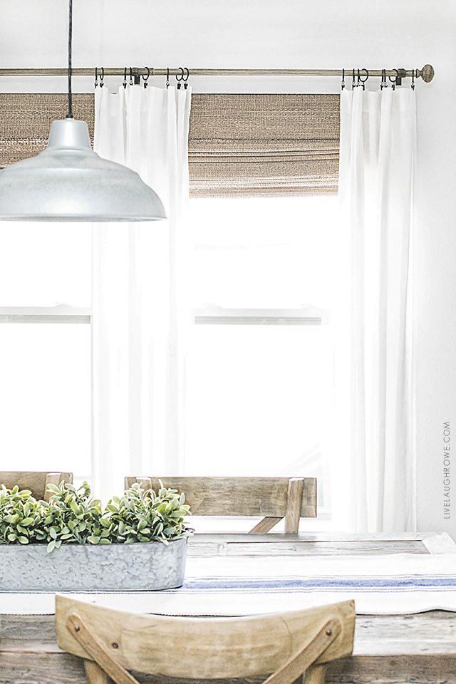 Neutral Window Treatments   Farmhouse Style - Live Laugh Rowe on Farmhouse Curtain Ideas  id=41442