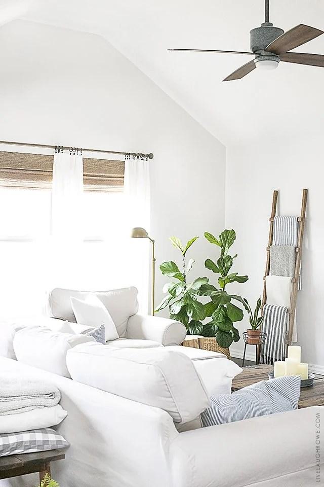 Neutral Window Treatments | Farmhouse Style - Live Laugh Rowe on Farmhouse Curtain Ideas For Living Room  id=15112