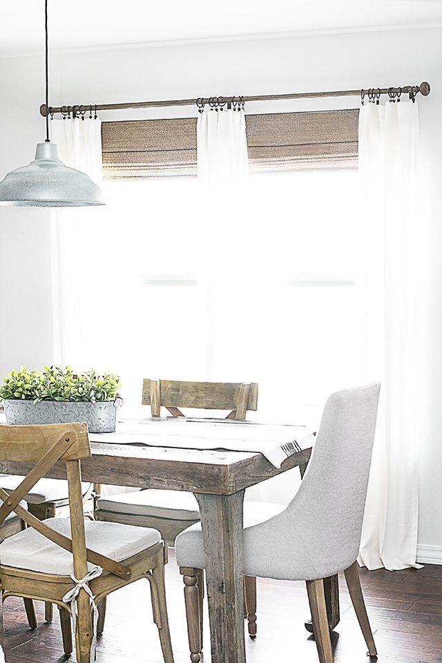 Farmhouse Style Window Coverings - Small House Interior ... on Farmhouse Dining Room Curtain Ideas  id=30357