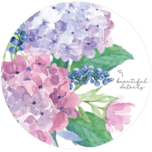 """""""Let your joy burst forth like flowers in the spring."""" What a great quote -- spring flowers do burst forth with joy and we should follow their lead! Beautiful watercolor hydrangeas amongst these FREE printable flowers at livelaughrowe.com"""