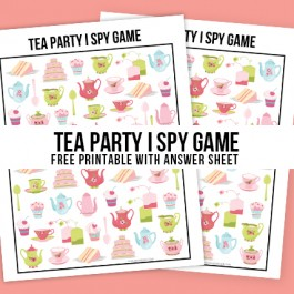 Hosting a Mom and Me tea party -- or having some friend over for tea? How about adding this Tea Party Game to the fun? This I Spy Printable comes with an answer sheet and answer key too! Print yours at livelaughrowe.com