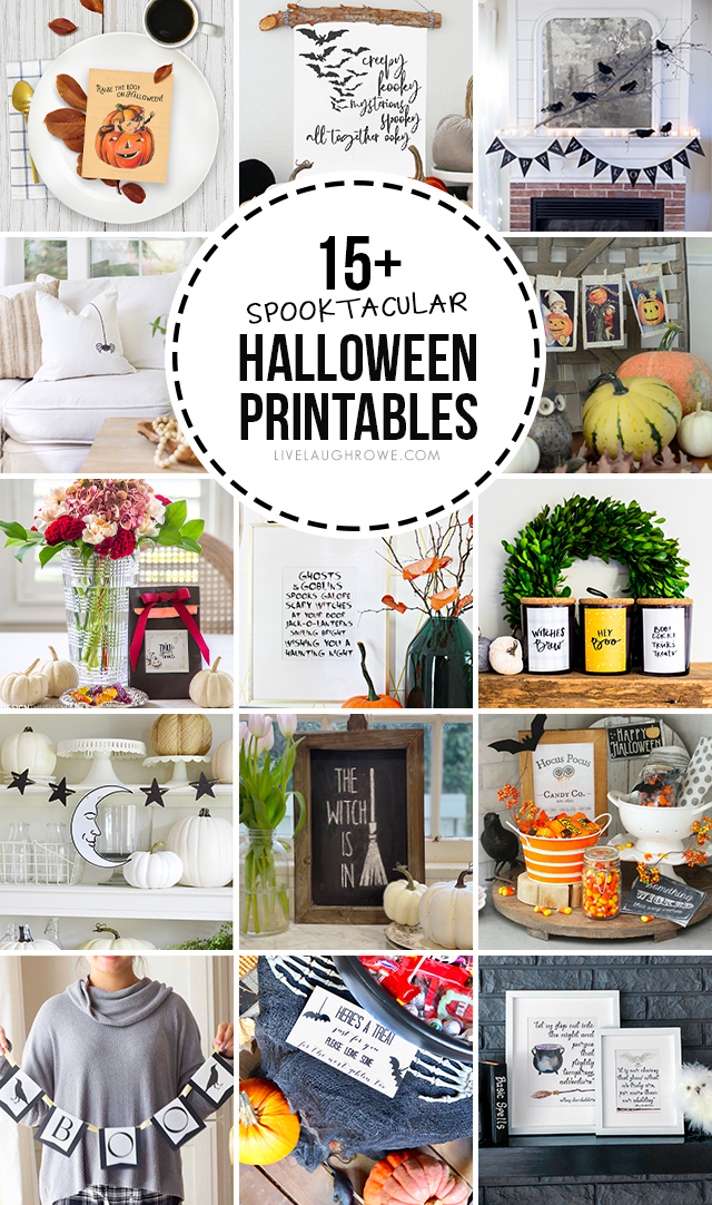 Collage of Halloween Printables