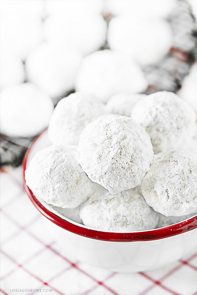 Bowl of Snowball Cookies