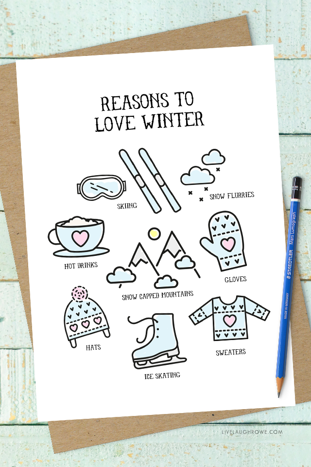 Colorful Reasons to Love Winter Print