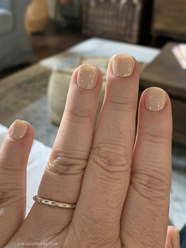 Vinyl Nail Wraps on Fingers