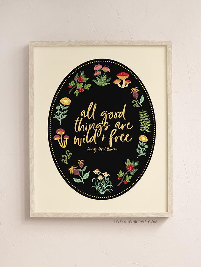 Framed Thoreau Quote