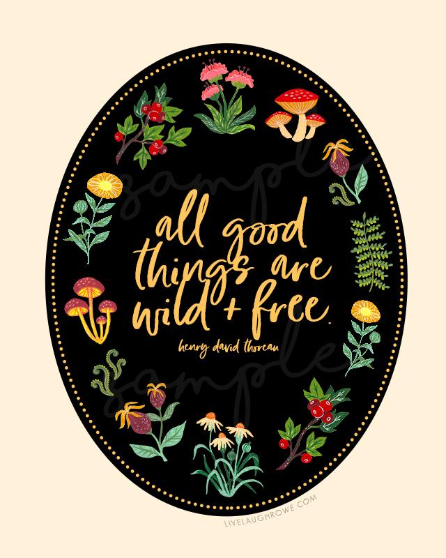 Thoreau Quote Print