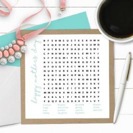 Styled Printable Word Game