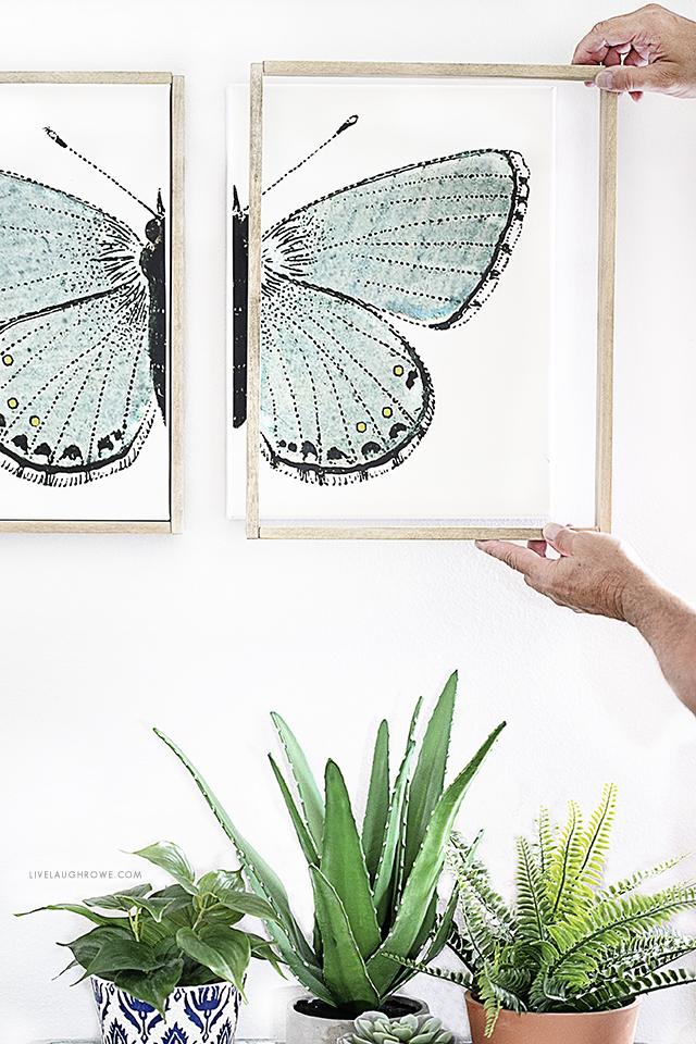 DIY Removable Wood Frame