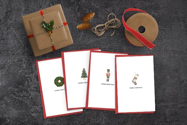 Four Free Printable Christmas Cards