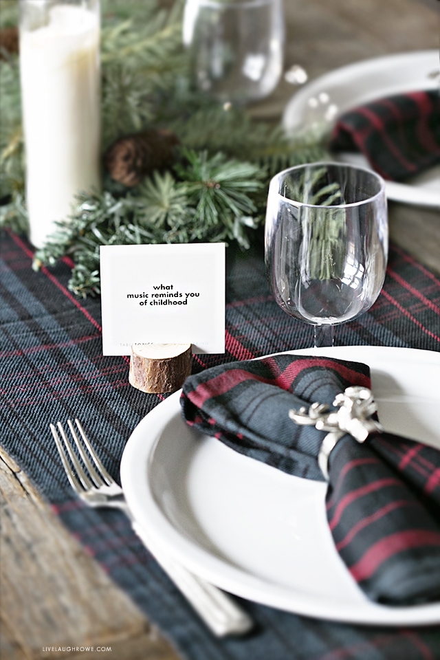 Christams Tablescape with TableTopics