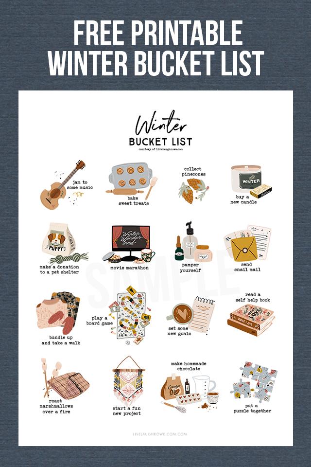 Bucket List for Winter