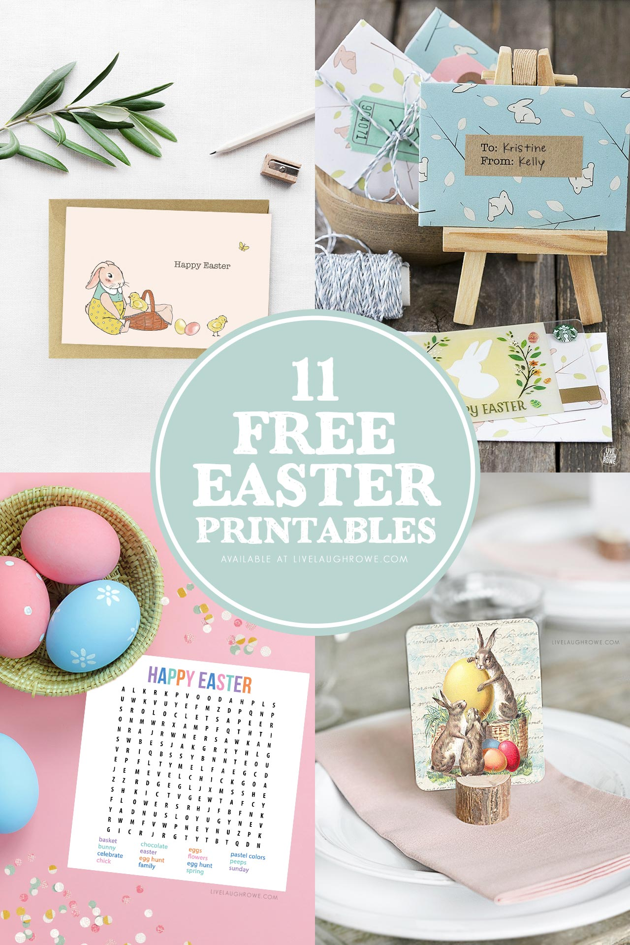 Free Easter Printables Collage