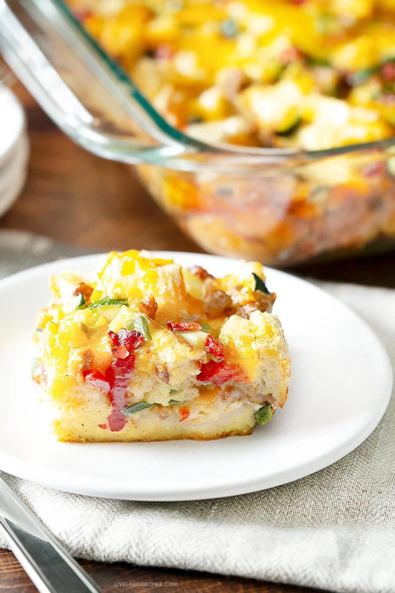 Breakfast Bake on Plate