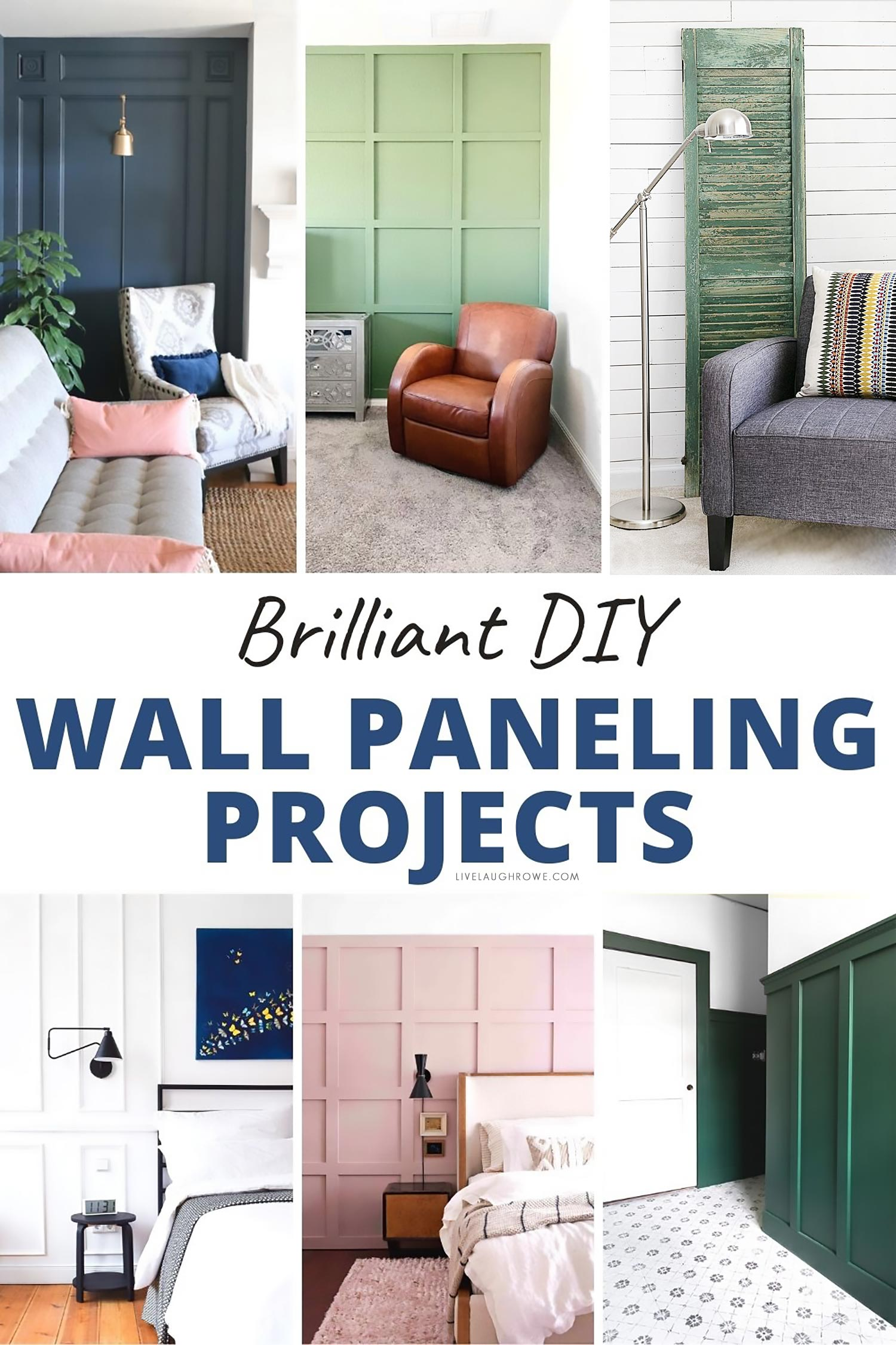 DIY Wall Paneling Ideas in a Collage