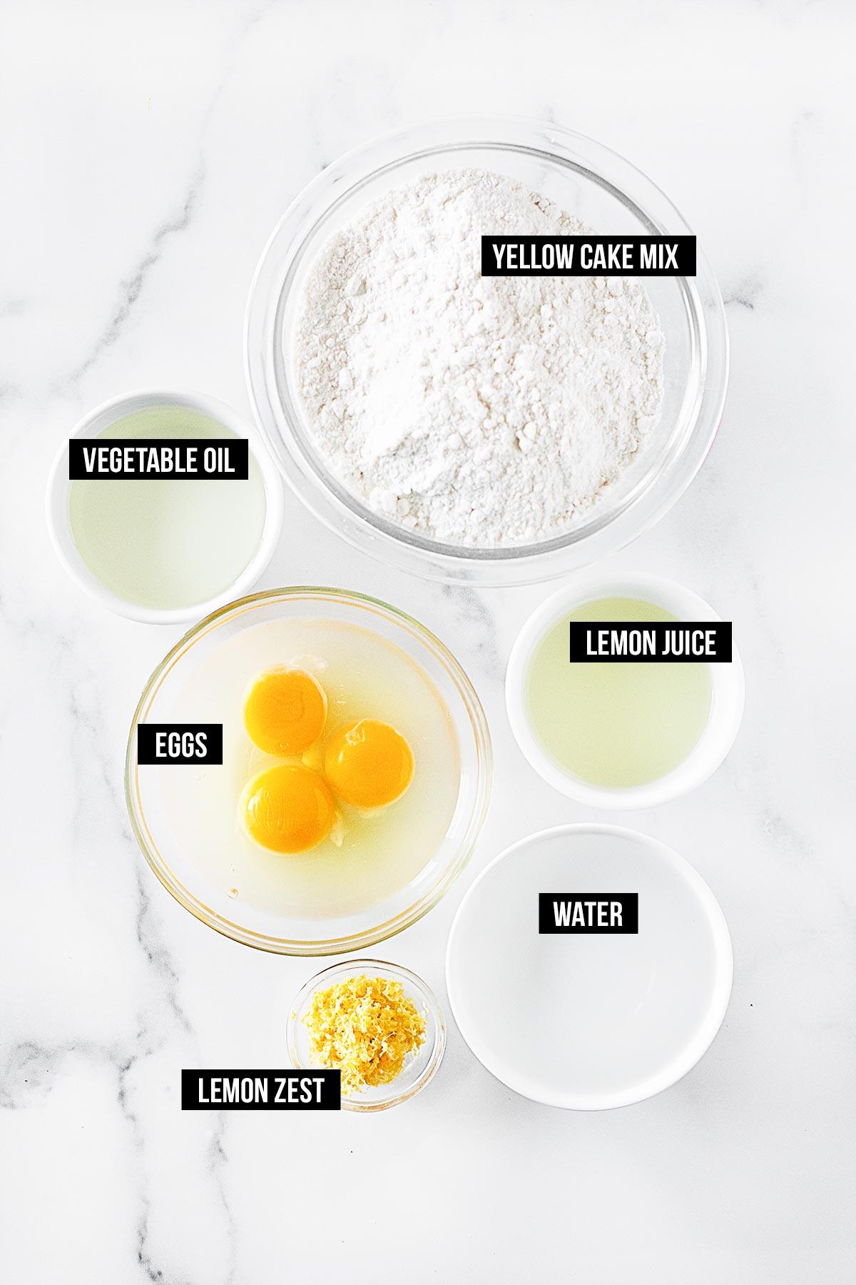 Ingredients for Poke Cake