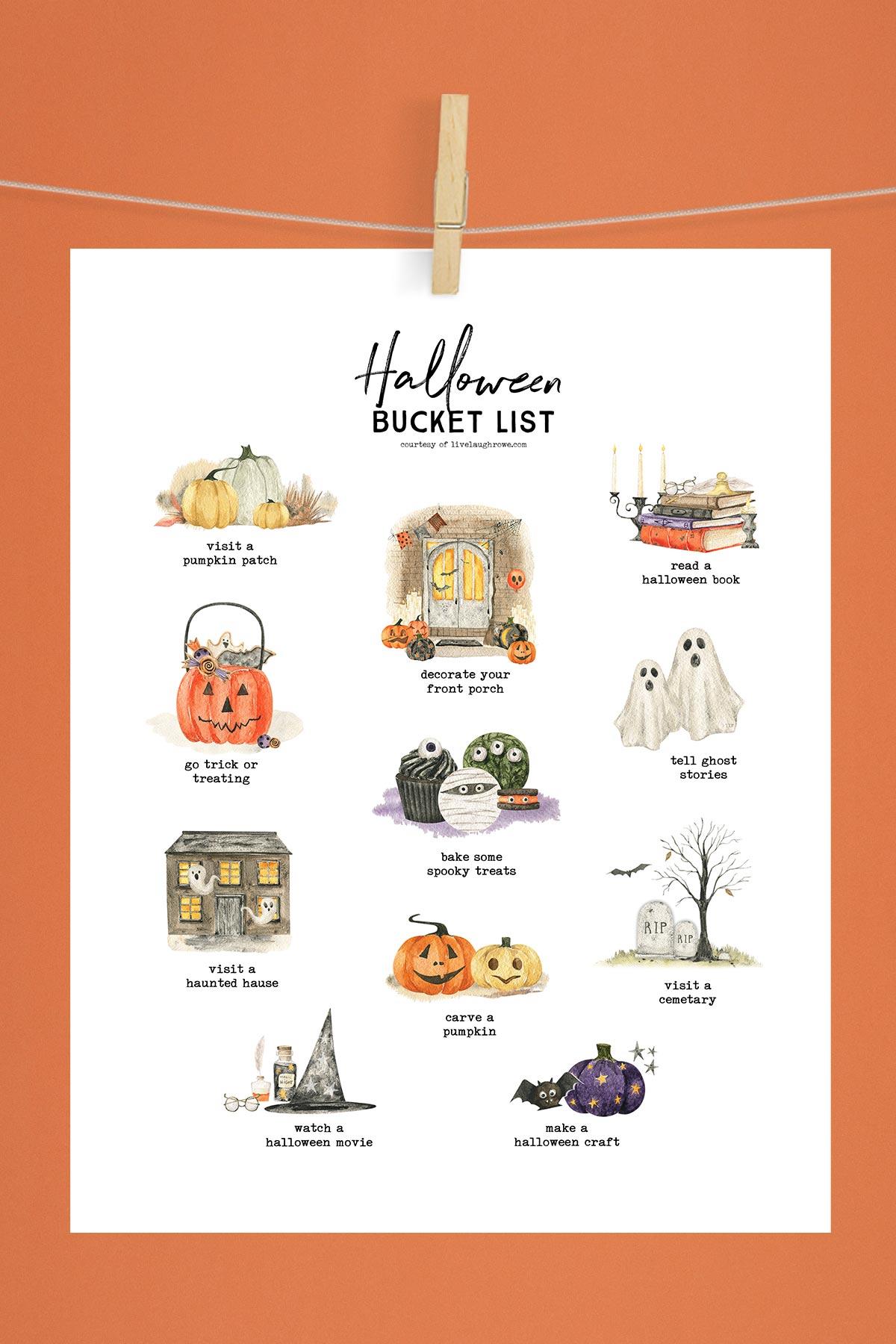 Spooky Season Bucket List