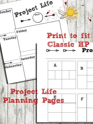 Project Life Printable for Classic Happy Planner