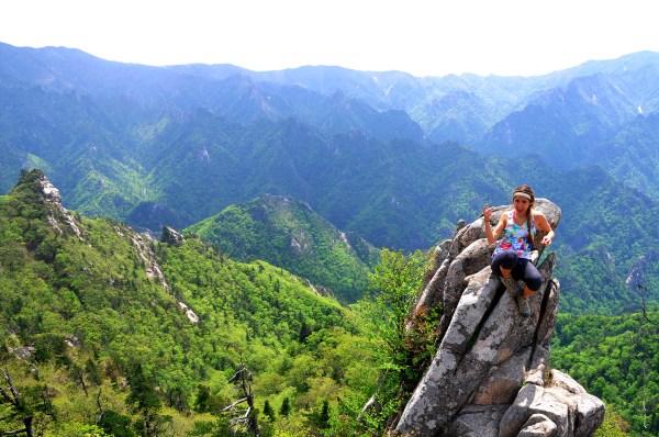 Tatiana on Dinosaur Ridge
