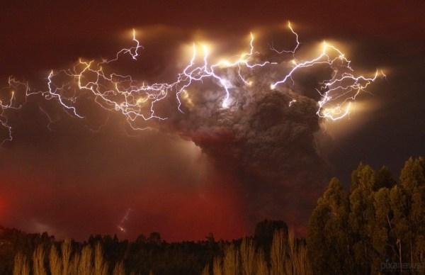 Chaiten Volcano chile by Carlos Gutierrez