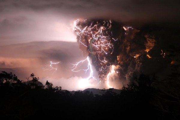 Dirty Thunderstorm by Carlos Guiterrez  Chaiten Volcano Chile
