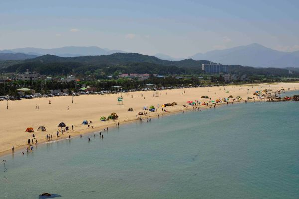 "Hapojae Beach in Yangyang, South Korea. Famous for the ""finest sand"" in all of Korea"